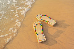 Beach Sandals Stock Photos