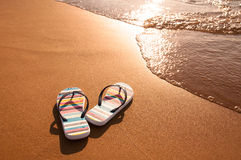 Beach sandals Royalty Free Stock Photography