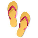 Beach sandals Stock Photography