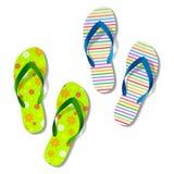 Beach sandals. Vector illustration of beach sandals Stock Photos