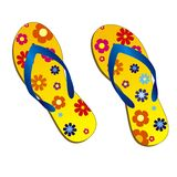 Beach-sandals Royalty Free Stock Images
