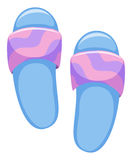 Beach sandals in blue and pink Royalty Free Stock Photography