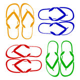 Beach Sandals. Flip flops isolated on a white background Stock Photography