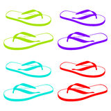 Beach Sandals. Flip flops isolated on a white background Royalty Free Stock Photos