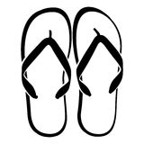Beach Sandals. Flip flops isolated on a white background Stock Photo
