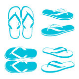 Beach Sandals. Flip flops isolated on a white background Royalty Free Stock Photography