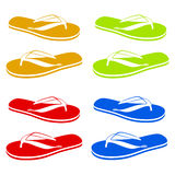 Beach Sandals. Flip flops  on a white background Royalty Free Stock Photo