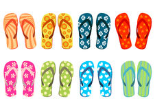 Free Beach Sandals Over White Stock Photography - 4212452