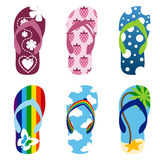 Beach sandals set3 Stock Photography