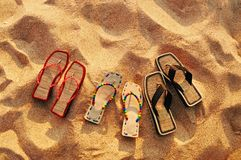 Beach Sandals Stock Images