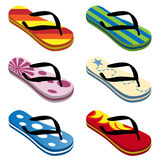 Beach sandals vector Royalty Free Stock Photography