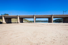 Beach Sandbank Lagoon Bridge Stock Photos