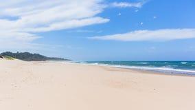 Beach Wide Sands Ocean Coastline stock image