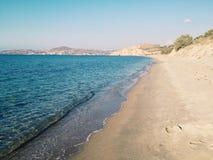 Beach. Sandy beach with blue ocean water Stock Image