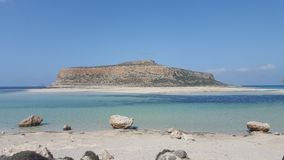Beach. Sandy beach at the cost of Crete Royalty Free Stock Photo