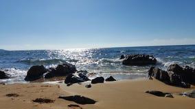 Beach. A sandy beach in Crete Stock Image