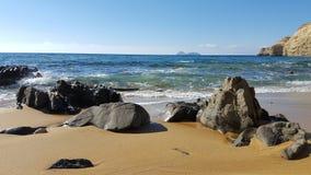 Beach. A sandy beach in Crete Royalty Free Stock Photography