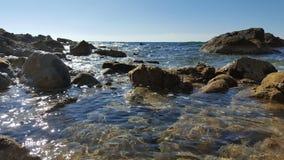 Beach. A sandy beach in Crete Royalty Free Stock Photo