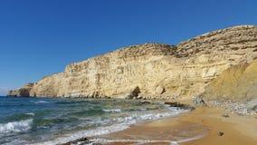 Beach. A sandy beach in Crete Stock Photography