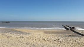 Beach. Sandy beach in Suffolk royalty free stock photo