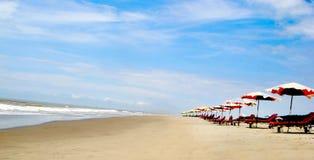 Beach. Sandy beach on the sunny day Stock Images
