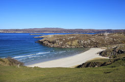 Beach in Sangomore area, Durness, Scotland Royalty Free Stock Photo