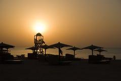 Beach sanset Stock Image