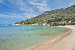 Sant Andrea,Island of Elba,Tuscany,Italy. Beach of Sant Andrea on Island of Elba,Tuscany,Italy Stock Photos