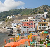 Beach of Sant Angelo, Ischia, Italy Royalty Free Stock Photography