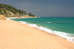 Beach of Sant Pol. Catalonia, Spain Stock Photo