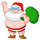 Beach Santa Stock Images