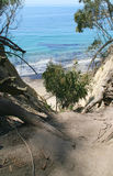 The Beach in Santa Barbara. A view of the beach from a cliffside in Santa Barbara Stock Photo