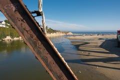 The beach of Santa Cruz, California. A view of a beach of Santa Cruz, California Royalty Free Stock Image
