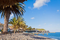 Beach in Santa Cruz, Madeira island, Portugal Stock Images