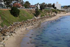 The Beach in Santa Cruz Royalty Free Stock Photography