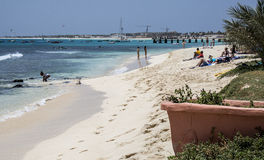 Beach at Santa Maria, Sal, Cape Verde Islands Stock Photography