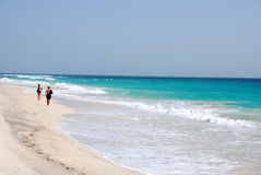 Beach at Santa Maria - Sal Island - Cape Verde Royalty Free Stock Image