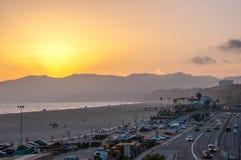 Beach Santa Monica, Los Angeles, California, USA Stock Photo