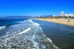Beach from Santa Monica Pier, California Royalty Free Stock Photography