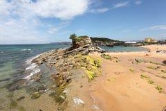 Beach in Santander, Spain Royalty Free Stock Photo