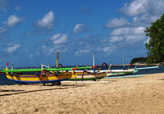 Beach Sanur Bali Stock Photo