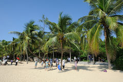 Beach in sanya. Stock Photo