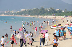 Beach in sanya yalong bay Royalty Free Stock Image