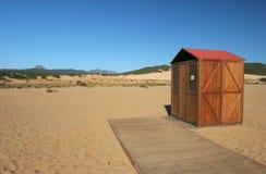 Beach of Sardinia. Sand desert of the seas of the Sardinia Royalty Free Stock Photography