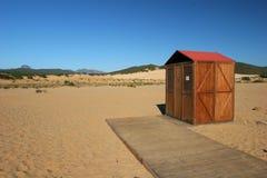Beach of Sardinia: piscinas. Sand desert of the seas of the Sardinia Royalty Free Stock Images