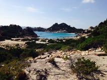 Beach in sardinia. Santamaria beach sardegna royalty free stock photography