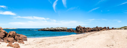 Beach in sardinia. In a sunny day of summer Royalty Free Stock Photography
