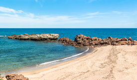 Beach in sardinia. In a sunny day of summer Royalty Free Stock Photo