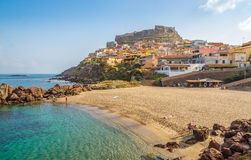 Beach in Sardinian Castelsardo Stock Photos