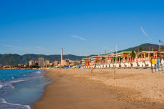 Beach in Savona. Italy Stock Photography